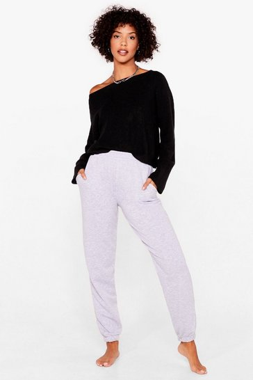 Black Knit's on the Agenda Relaxed Lounge Jumper