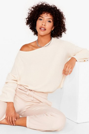 Cream Knit's on the Agenda Relaxed Lounge Jumper