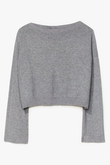 Grey Knit's on the Agenda Relaxed Lounge Sweater