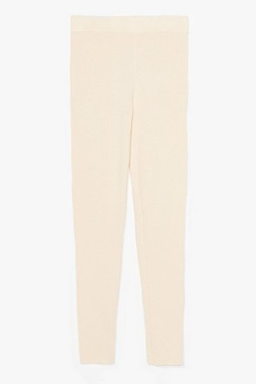 Cream Time for You Knitted Lounge Leggings