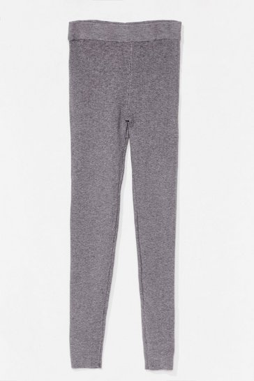 Grey Time for You Knitted Lounge Leggings