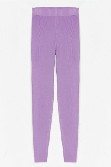 Lilac Thick Knit Loungewear Leggings