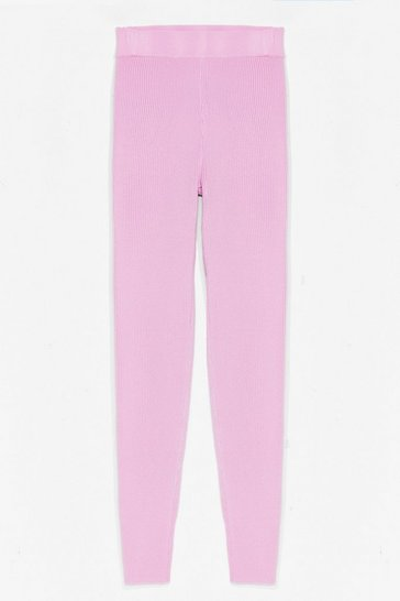 Pink Time for You Knitted Lounge Leggings