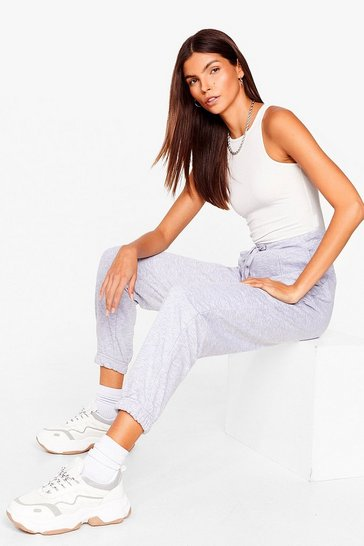 Grey marl Run the Show High-Waisted Joggers
