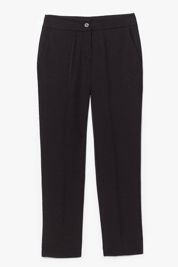 Black Let's Talk Business High-Waisted Tapered Pants