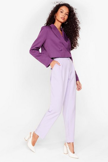Lilac Give It to 'Em Straight High-Waisted Pants