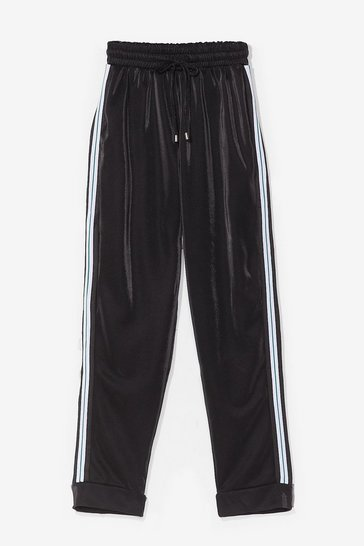 Black Get Our Good Side High-Waisted Joggers