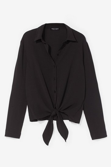 Black No Ties Button-Down Shirt