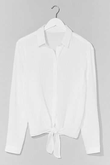 White No Ties Button-Down Shirt