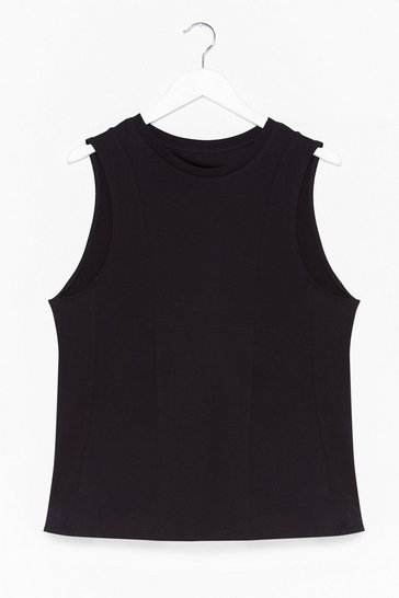 Black Never Crew Love Like This Peplum Tank Top