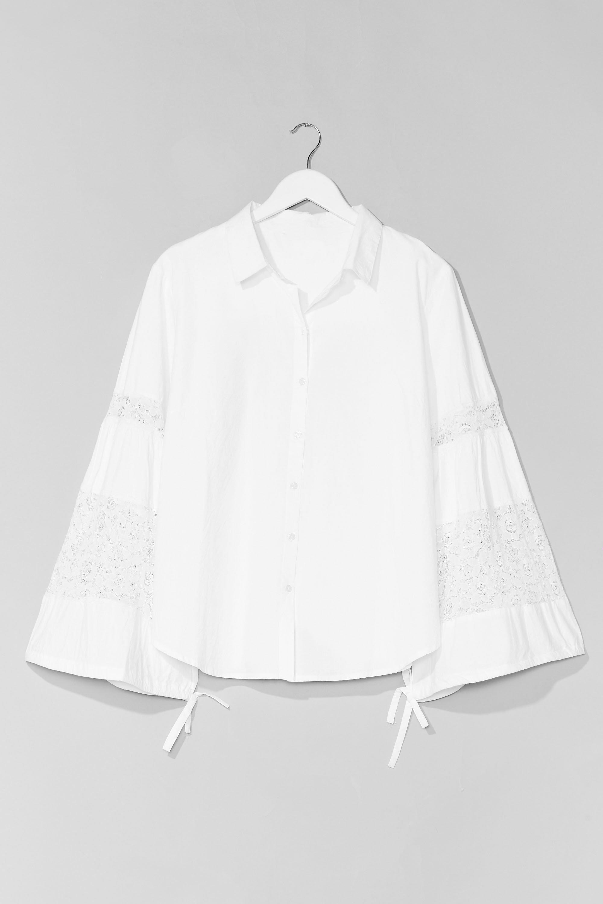Plus Size Lace Insert Shirt 6
