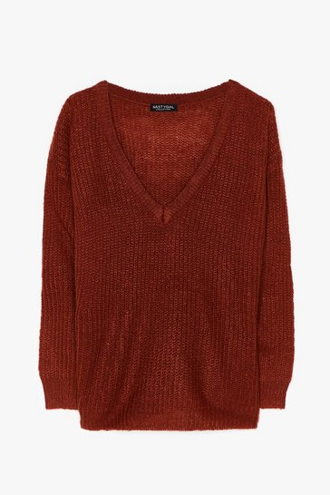 Cinnamon Sweater Weather Plus Knit Sweater