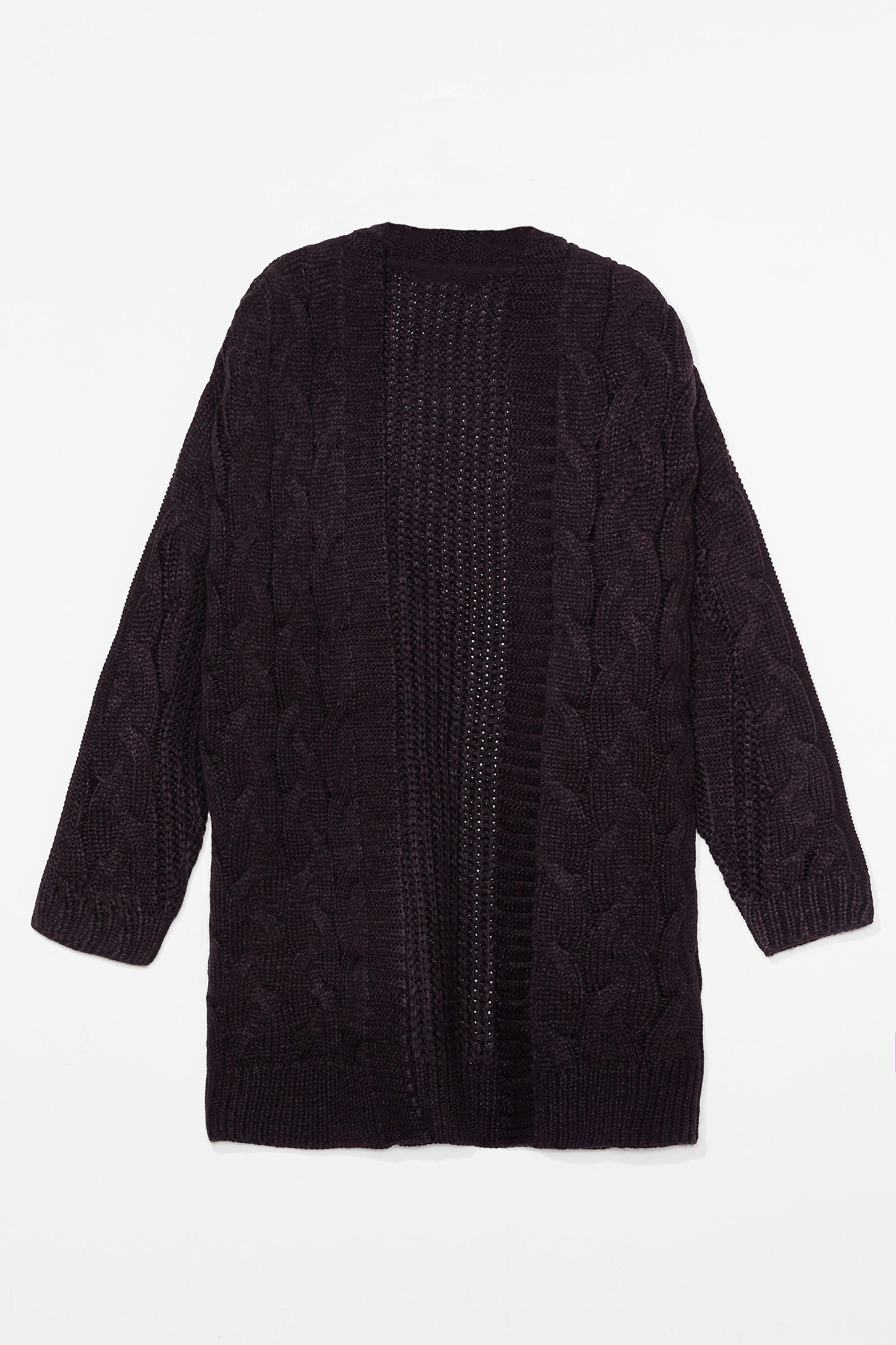 Love You Longline Plus Cable Knit Cardigan 6