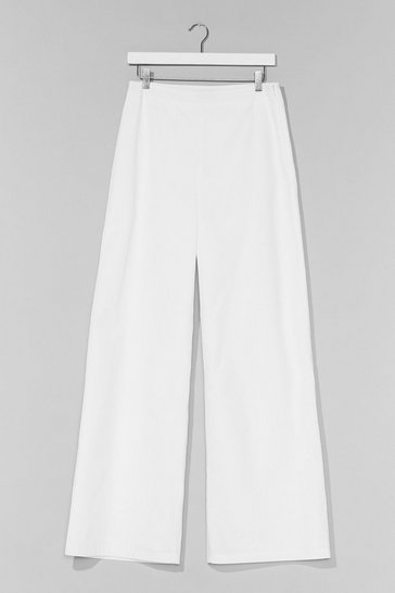 White Womanizer Wide-Leg Pants