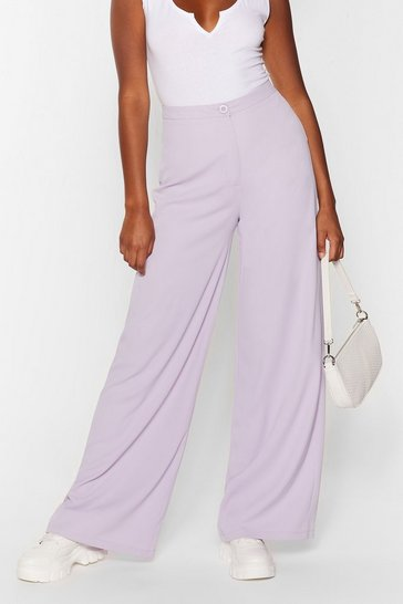 Lilac Good for You Tailored Wide-Leg Pants