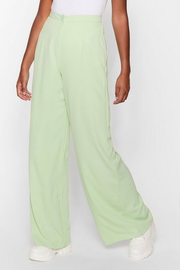 Mint Good for You Tailored Wide-Leg Pants