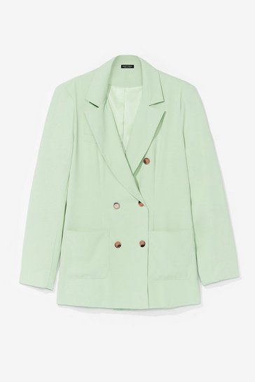 Mint Good for You Double Breasted Tailored Blazer