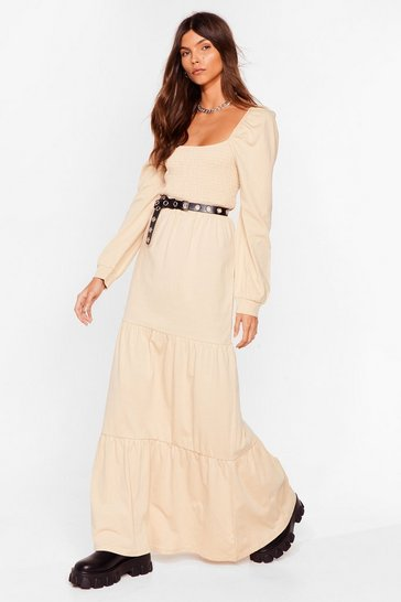 Caramel Square Your Love With Me Relaxed Maxi Dress