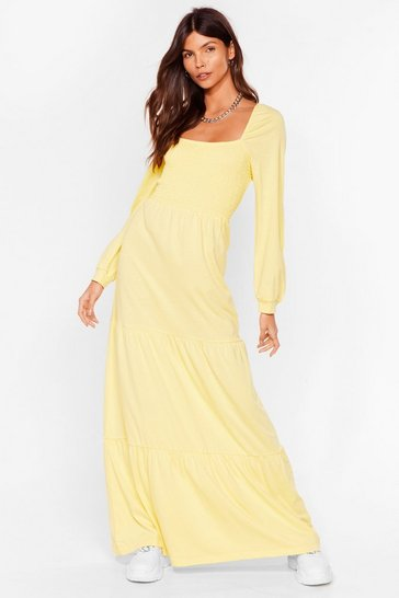 Lemon Square Your Love With Me Relaxed Maxi Dress