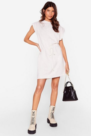 Cream Please and Tanks Tie Waist Mini Dress