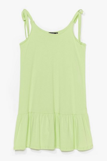 Lime Just Tie Your Best Relaxed Mini Dress