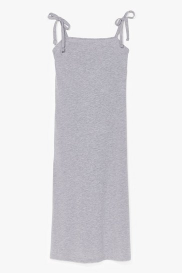 Grey All Tie Need Relaxed Midi Dress