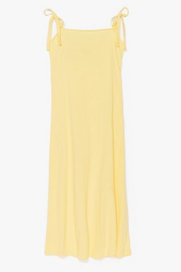 Lemon All Tie Need Relaxed Midi Dress