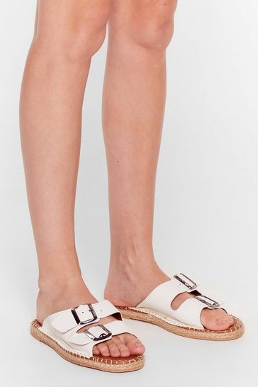 White You Know the Espadrille Faux Leather Sandals