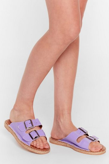 Lilac You Know the Espadrille Faux Leather Sandals