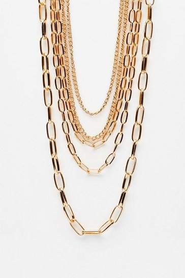 Gold Link About It Layered Chain Necklace