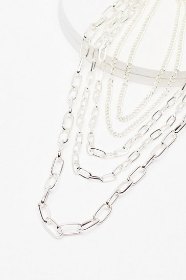Silver Link About It Layered Chain Necklace