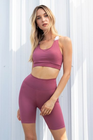Rose Sport It Out Workout Biker Shorts