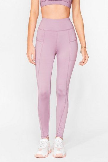 Lilac Sport Yourself Out Workout Leggings