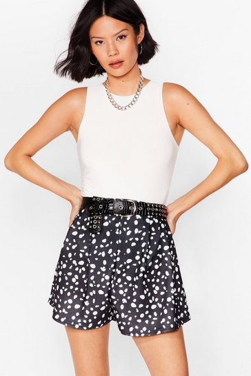Black You Spot Lucky Dalmatian High-Waisted Shorts