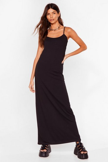 Black Keep Things Simple Relaxed Maxi Dress
