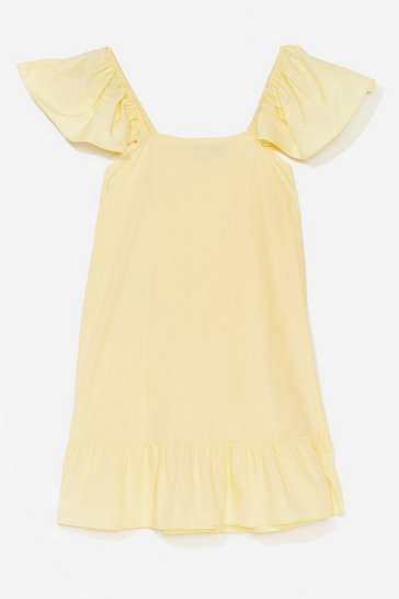 Lemon We Frill See You There Ruffle Mini Dress