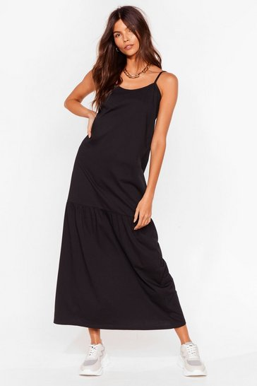 Black Take Your Time Relaxed Maxi Dress