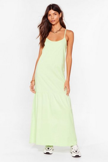 Pistachio Take Your Time Relaxed Maxi Dress