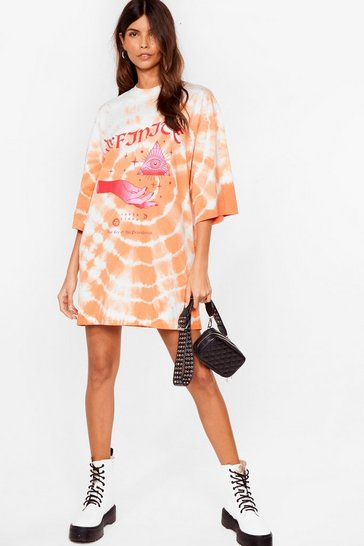 Peach Eye Like It Like That Tie Dye Tee Dress