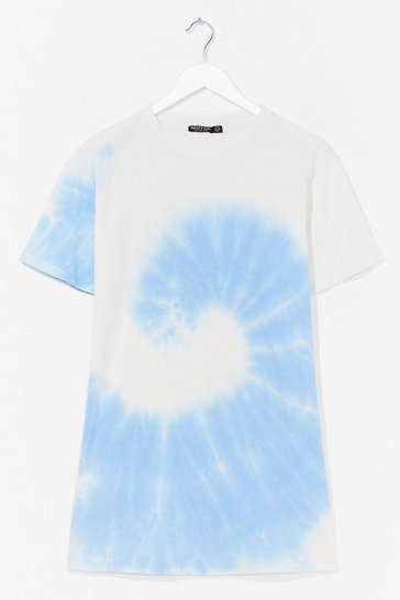 Blue You're a Swirlwind Baby Tie Dye Tee