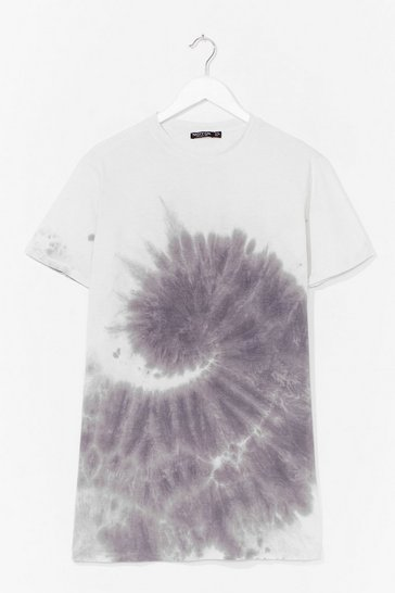 Grey You're a Swirlwind Baby Tie Dye Tee