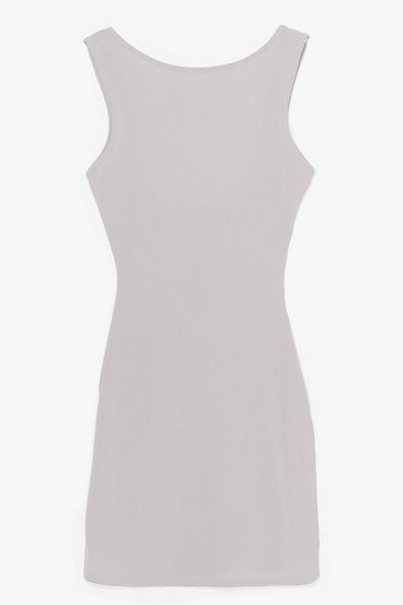 Grey Got Your Back Ribbed Mini Dress