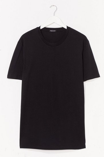 Black ORGANIC OVERSIZED T-SHIRT DRESS