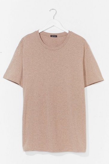 Sand ORGANIC OVERSIZED T-SHIRT DRESS