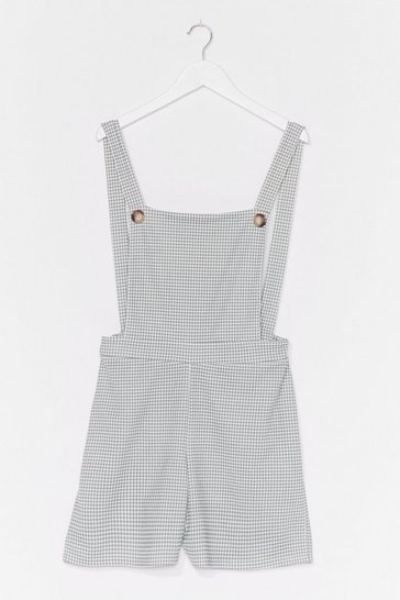 Sage GINGHAM DUNGAREE PLAYSUIT