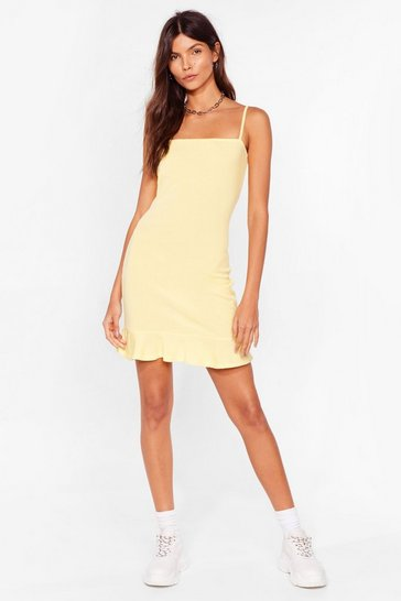 Lemon Flip 'Em Off Mini Dress