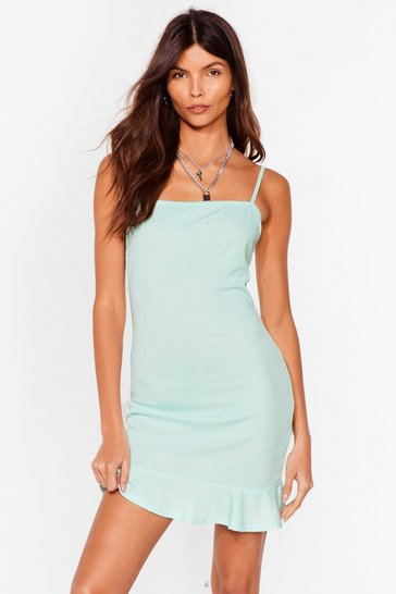 Mint Flip 'Em Off Mini Dress
