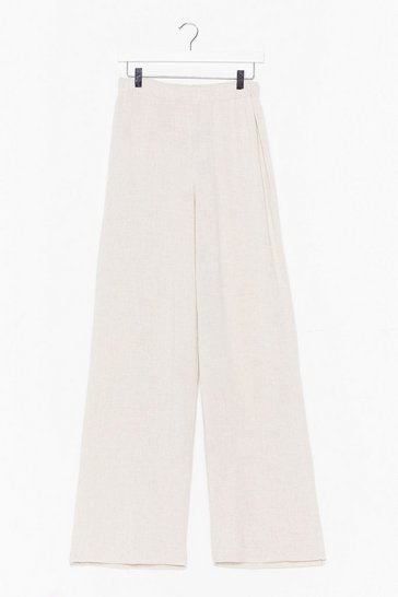 Stone Linen to Us Wide-Leg Pants