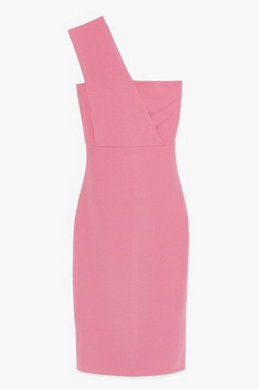 Plum SINGLE STRAP BODYCON MIDI DRESS