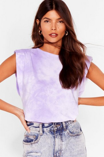 Lilac Into the Groove Tie Dye Tank Top